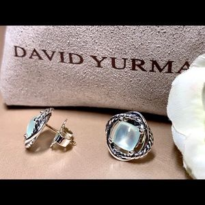 David Yurman Jewelry - David Yurman Aqua Chalcedony Earrings